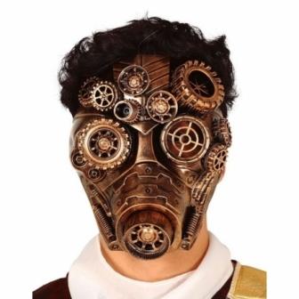 Máscara Oro Steampunk pvc