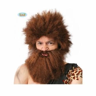 Peluca y barba cavernícola