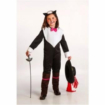 Disfraz Gata mosquetera para niña
