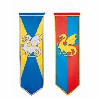 Banner decoración medieval 100x30cm unid