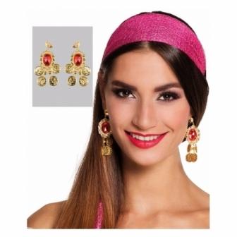 Pendientes Bailarina con perla y monedas