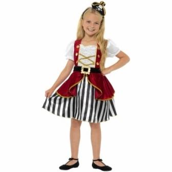 Disfraz Pirata niña Deluxe con sombrero