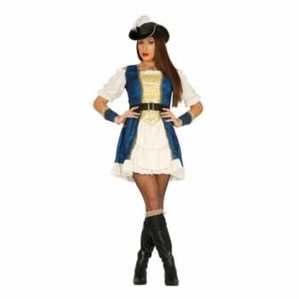 Disfraz Piratesa lujo para mujer