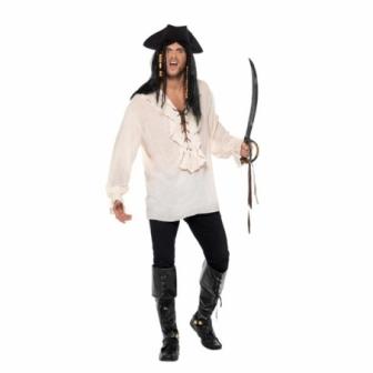 Camisa de Pirata blanca cordones adulto