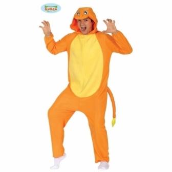 Disfraz Dragón naranja adulto