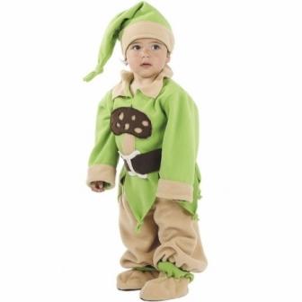 Disfraz Enanito verde Bebé