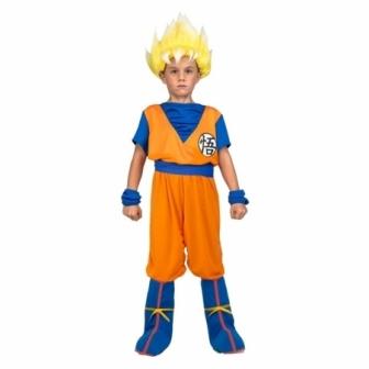Disfraz de Saiyan Goku con peluca niño