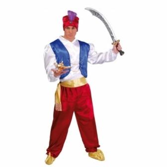 Disfraz de paje Aladin para adulto
