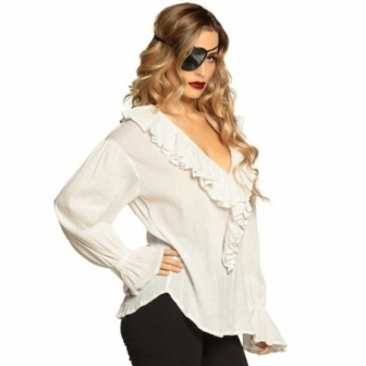 Camisa Pirata / Medieval blanca mujer