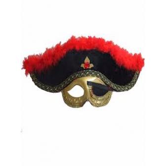 Antifaz Sombrero Pirata Con Parche