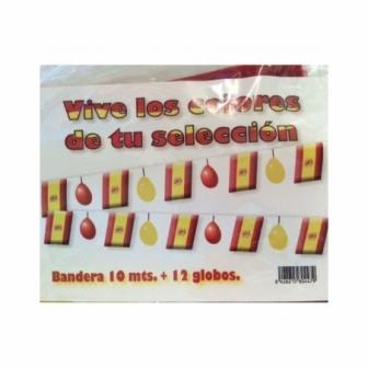 Guirnalda Bandera España Con Globos