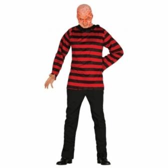Camisa Mr. Rayas Rojas Y Negras Adulto