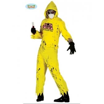 Disfraz Zombie Radioactivo Adulto