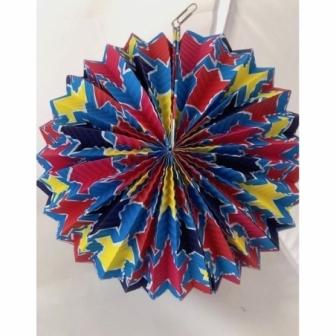 Farolillo esférico estrellas color 26cms