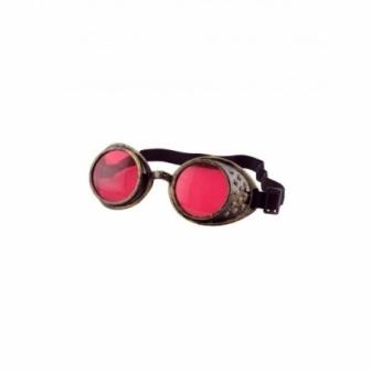 Gafas Steampunk cristal rojo 5cm