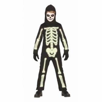 Disfraz Skeleton fosforescente infantil