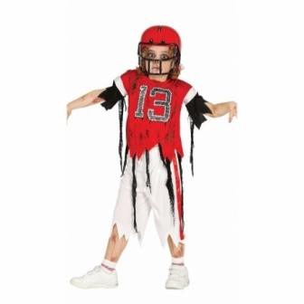Disfraz Jugador Rugby zombie niño