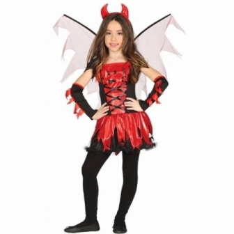 Disfraz diablesa con alas infantil