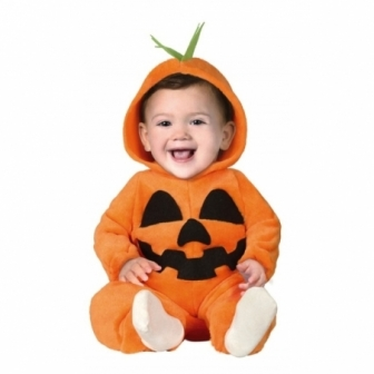 Disfraz de Calabaza con capucha bebes