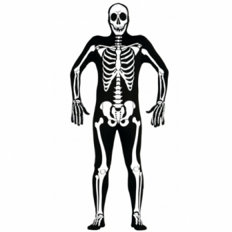 Disfraz Esqueleto spandex Deluxe hombre