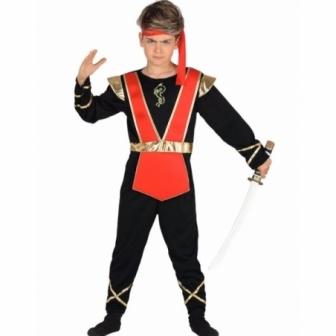 Disfraz Ninja Dorado infantil