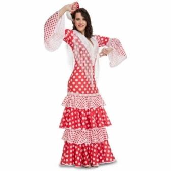 Disfraz Flamenca rojo mod.rocio mujer