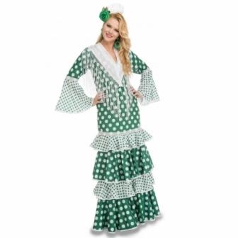 Disfraz Flamenca verde Mod.Feria mujer