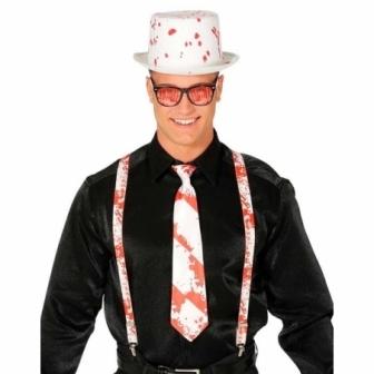 Conjunto Chistera,corbata + tirantes