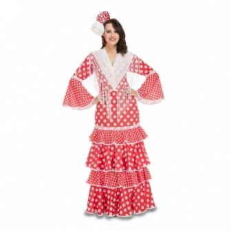 Disfraz de Flamenca rojo mujer
