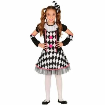 Disfraz Arlequina rombos  para niña