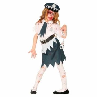 Disfraz Policía Zombie para niña