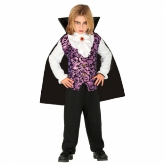 Disfraz Vampiro lila para niño