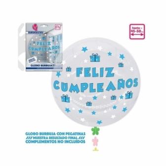 Globo Burbuja+pegatinas cumple AZ/RS