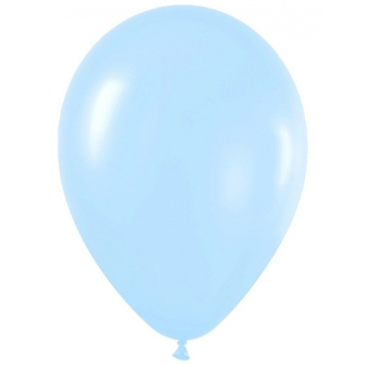 Globo Látex 30 Cm Satín Azul 50 Unid.
