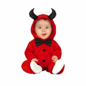Disfraz  Diablillo con capucha bebes