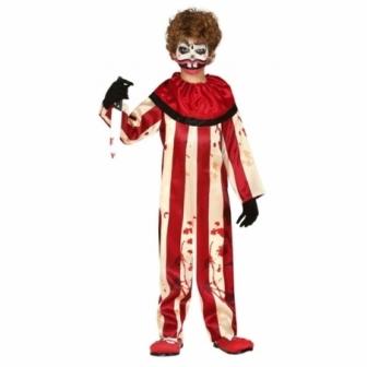 Disfraz Payaso a rayas asesino infantil