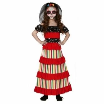 Disfraz Dia de los muertos para niña
