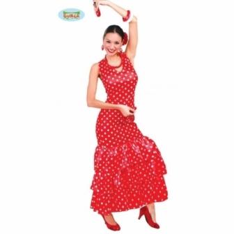 Disfraz Sevillana  Rojo mujer T.L