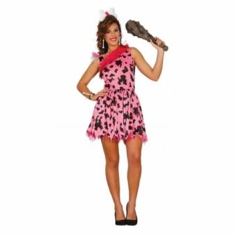 Disfraz Pink Cavewoman Adulta