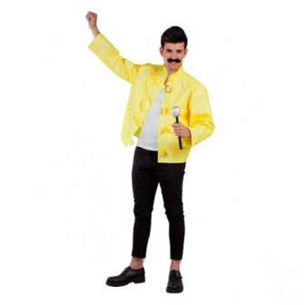 Chaqueta amarilla Rockero adulto