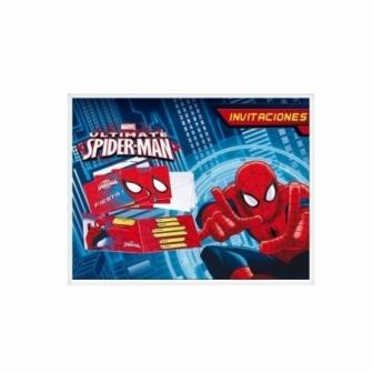Invitaciones Spiderman Ultimate C/ Sobre