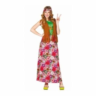 Disfraz Happy Hippie para mujer