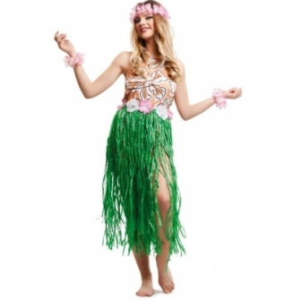 Disfraz Hawaiana Chic mujer T.ML