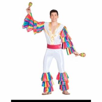 Disfraz Rumbero blanco para hombre