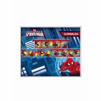 Guirnalda Feliz Cumpleaños Spiderman