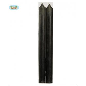 Blister 2 Velas Negras 25cm