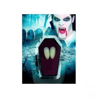 Colmillos de vampiro, con adhesivo