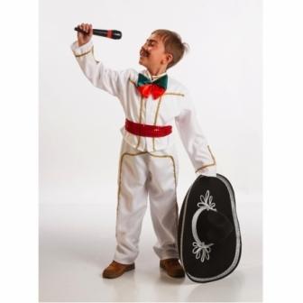 Disfraz Mejicano Infantil Blanco