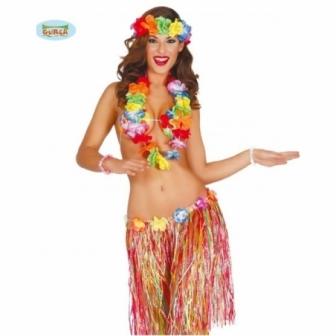 Conjunto Hawaiano multicolor 55cms