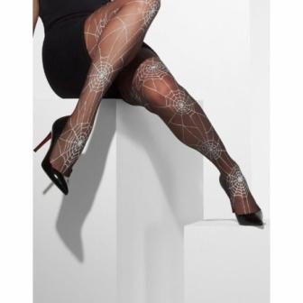Pantys negros con telarañas para mujer